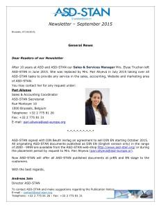 ASD_STAN_Newsletter_and_Publication Notice_September_20151