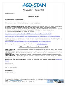 ASD_STAN_Newsletter_and_Publication Notice_April_20161